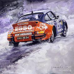 1980 Rallye Monte Carlo Porsche 911 Sc Hannu Mikkola Painting