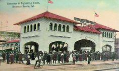 Old early 1900's Redondo Beach Postcard.
