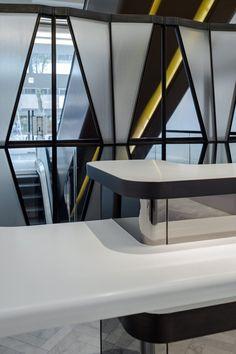 H Zentre — CL3 Elevator Lobby Design, Workplace Design, Round Corner, Indoor Air Quality, Car Parking, Custom Design, Stairs, Gallery, Building