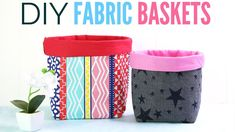 Fabric Basket Tutorial: How to Make Fabric Baskets in 5 Sizes - YouTube