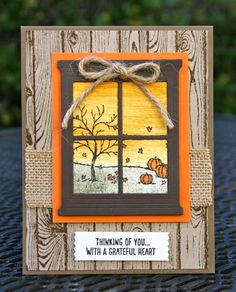 Hi Stamping Friends!!  Today is the fourth and final card in my Happy Scenes series. Did you notice the pattern?   Winter, spring, summer or...