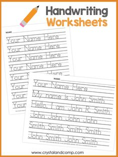 handwriting worksheets preview 1