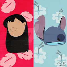Lilo and Stitch - Minimalist by raquelsegal on DeviantArt Disney Canvas Paintings, Disney Canvas Art, Simple Canvas Paintings, Easy Canvas Art, Small Canvas Art, Mini Canvas Art, Disney Art, Lilo And Stitch Shirt, Lilo Et Stitch
