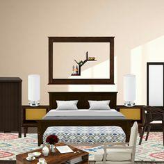 Classic wooden look based bedroom