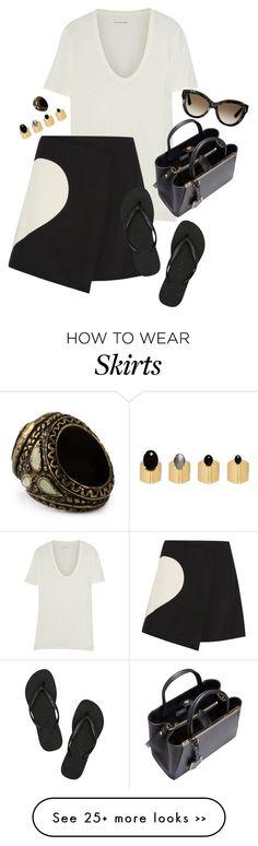 """""""Wool-blend wrap mini skirt"""" by alwayswearwhatyouwanttowear on Polyvore"""