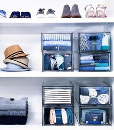 We made our product collection for every room in the house - and we love how it works in a closet! Shelf dividers, stacking drawers, and S… Pantry Storage, Smart Storage, Closet Storage, Storage Room, Bedroom Organisation, Closet Organization, Clothing Organization, Master Closet, Walk In Closet