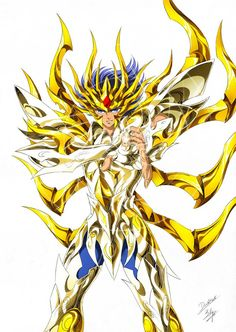 Gold Saint Cancer Deathmask with Divine Cloth, Artwork by SpaceWeaver. Saint Seiya Soul of Gold