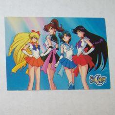 Sailor Moon Card Pretty Soldier Sailormoon  Awesome Trading Cards 22 - Day of Destiny Dart 1997 Sailor Mars, Mercury, Jupiter, Venus