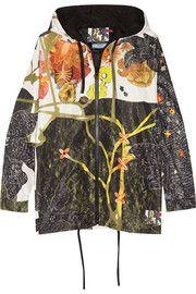 PradaHooded printed silk-faille jacket
