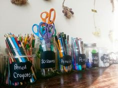 Up-cycled Organization - & DIY Chalkboard Paint Recipe Chalkboard Paint Recipes, Diy Organization, Getting Organized, Blog, Crafts, Painting, Manualidades, Organizing Clutter, Painting Art
