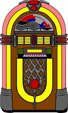 Fifties Jukebox clip art