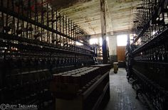 Last silk mill still standing in the US.  In lanoconing MD, it has been shuttered since about 1957 and efforts are underway to preserve it.  (Link through pic for more info)