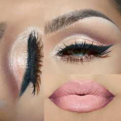LOOOOOOVE this! Soft pink lip + shadow - perfect for a Valentine's date!