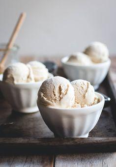 Tahini Ice Cream with Honey Caramel | butterlust.com