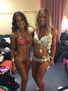 Bespoke competition bikinis - Left in red #VerønSwim #veronatelier . #wbff australia