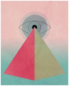 The Great Eye Nº1 8x10 Egyptian Print All by BrianBlondell