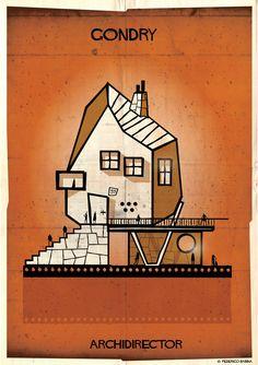Mira cómo sería una casa diseñada por Tim Burton o Alfred Hitchcock