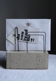 Beton-Brief- und #Kartenhalter oftmals eine gute option