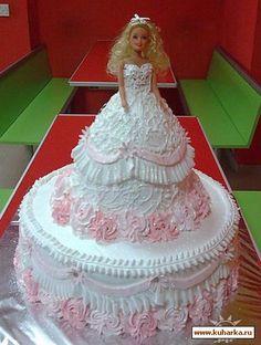 Barbie Cake Barbie Torte, Bolo Barbie, Barbie Cake, Barbie Birthday Cake, Birthday Cake Girls, Birthday Cakes, Fancy Cakes, Cute Cakes, Cake Decorating For Kids