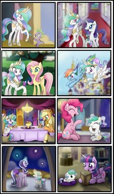Celestia's Regression - [Requested by Davaba19] by Bonsia-Lucky.deviantart.com on @DeviantArt