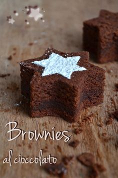 Die Bonbons in den Sinn: Schokoladen-Brownies . Chocolate Brownies, Chocolate Recipes, Cake & Co, Dessert Decoration, Something Sweet, Christmas Desserts, Cakes And More, Cake Cookies, Sweet Recipes