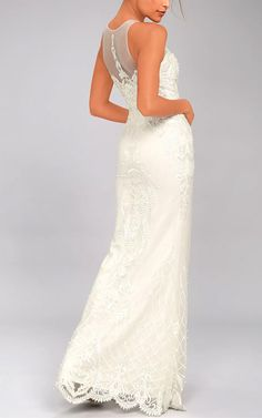 A love that lasts forever starts with the Hold On To Love White Embroidered Maxi Dress! Intricate embroidery and pearls decorate this elegant gown. Best Maxi Dresses, White Maxi Dresses, White Dress, Lace Maxi, Casual Dress Outfits, Casual Shorts, White Gowns, Gowns Of Elegance, Elegant