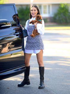 Celebrity Gossip, Celebrity News, Celebrity Style, Olivia Culpo, Collar Dress, Dress Shirt, Celebs, Celebrities, Autumn Inspiration