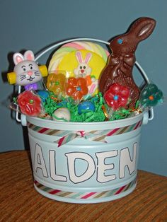 Create an Easter bucket instead of an Easter basket. It can be used year after year.