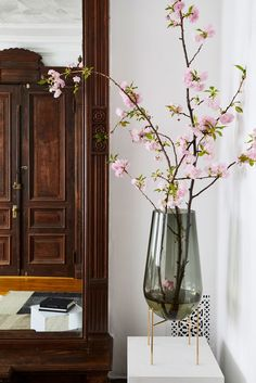 Échasse vase by Menu | My Scandinavian Home: tour a Beautiful Sitting Room in a Brooklyn Brownstone