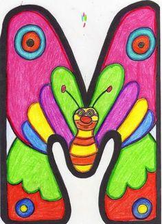 Primavera | La luz de mi clase Crochet Alphabet Letters, Alphabet Letter Templates, Alphabet For Kids, Alphabet And Numbers, Envelope Art, Art Drawings For Kids, Printable Banner, Writing Styles, Monogram Letters