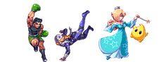 "Little Mac, Shiek, Rosalina - Smash Bros. by Daniel ""Abysswolf"" Oliver"
