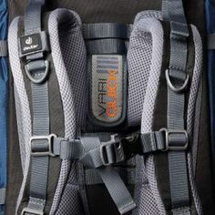 Torso adjustment system, and chest strap with emergency whistle.