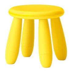 Amazon.com: Ikea Mammut Childrens Light Yellow Stool: Home  Kitchen