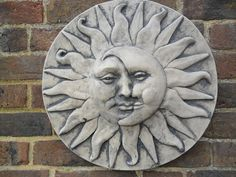 wall hanging sun and moon plaque