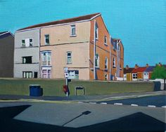 Rhyddings House, Swansea. Latest in Urban Minimal series of paintings by contemporary artist, Emma Cownie