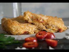Πιπερόπιτα με φύλλο κρούστας και φέτα. Μοναδική, εντυπωσιακή, έτοιμη να «κατακτήσει» το τραπέζι σας, μα περισσότερο τον ουρανίσκο !! Chicken, Meat, Youtube, Food, Essen, Meals, Youtubers, Yemek, Youtube Movies