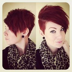 really cute, but I don't want to shave the side of my head anymore...