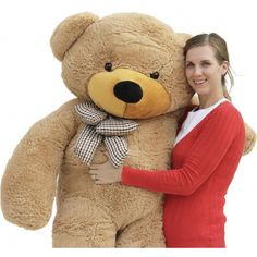 Joyfay® 78 inches Giant Teddy Bear Light Brown Perfect for Mother's Day! #JoyFay #GiantBear #BigBear #MothersDayGift
