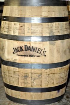 Jack Daniels Whiskey Barrels with Branded Logos #JACKDANIELS It's going in the POOL ROOM.