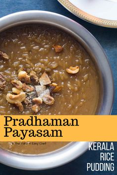Pradhaman is a popular payasam (pudding) served as a dessert in traditional Kerala feasts. This delicious sweet treat is made with rice, jaggery and coconut milk.  Check out this easy recipe and prepare a pradhaman from scratch for this Onam Sadya (Festive Feast).