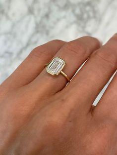 Emerald Cut Engagement, Dream Engagement Rings, Engagement Ring Cuts, Wedding Engagement, Wedding Rings, Rectangle Engagement Rings, Tiffany Engagement, Ring Verlobung, Dream Ring