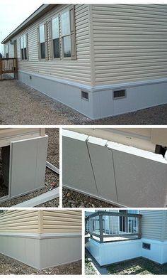 28 best mobile home skirting images house skirting decks gardens rh pinterest com
