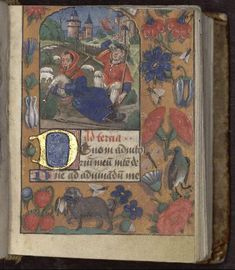 Writing Is A Flemish Bastard On Parchment Complete Marginal Decoration Pictorial Illusionism Decorative Border Ganto Bruges Style Initial Gilded