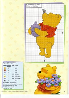 Schema punto croce Winnie Apetta