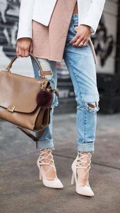 Kylie Nude Suede Lace-Up Heels - Trendslove
