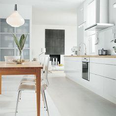 #Ikea #kitchen - #abstrakt white high gloss