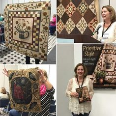 """Calling lovers of all things primitive: Jeni Gaston is debuting her new book """"Primitive Style"""" at Schoolhouse! You know Jeni as one of the creative minds behind Primitive Quilts and Projects Magazine, celebratingprimitive quilters, rug hookers, and stitchers. Now we're thrilled to call her a Martingale author too! @primitivequiltsandprojects #quiltmarket #schoolhouse #martingaleatmarket"""