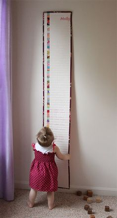 Babies grow and people move... make this so your babies growth chart is permanently with the family!  GREAT idea!