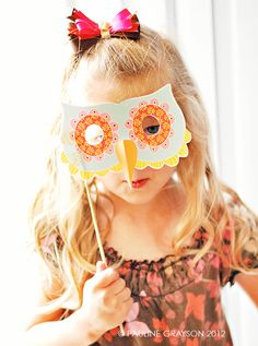 Halloween Owl Mask- DIY Printable | Muffin Grayson