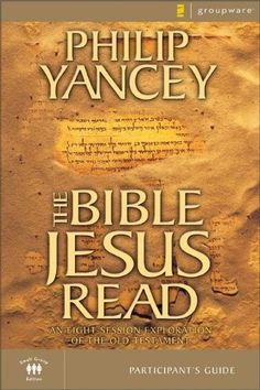 The Bible Jesus Read Participant's Guide by Philip Yancey http://www.amazon.com/dp/0310241855/ref=cm_sw_r_pi_dp_hTwdub040ZSD9